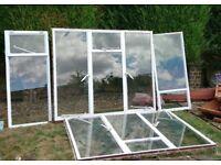 glazed metal framed windows