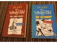 2 x diary of a wimpy kid books