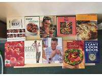 Collection of 10 cooking books, can be sold separately