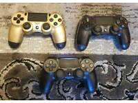 Sony PS4 Playstation 4 controllers Black v2 gold