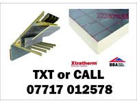 75mm Xtratherm and Celotex Foil sided Insulation board NEW 1200x 2400mm similar to Kingspan