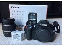Canon EOS 550D Digital SLR Camera inc 18-55 mm Lens Kit, 2 x Batteries, All Cables, Manual & Box