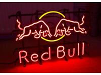 RED BULL NEON LIGHT DIMMABLE WITH HOUSING