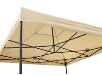All Seasons 3x3m Heavy Duty Pop Up Gazebo Spare Roof Canopy Beige/cream cost £65