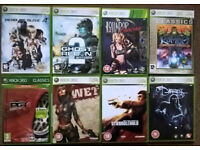 8x XBox 360 games includes Lollipop Chainsaw, Dead or Alive 4, PGR4, Stranglehold etc