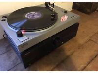 Bush record player and Kenwood amp