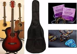 Acoustic Guitar for begnners Free Bag, String set & 5 picks Brand New (hair scratch from Factory)