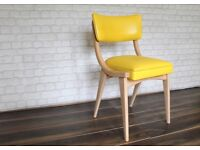 Yellow Ben Chairs - Solid Beech (x4 Available)