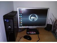 DELL DUAL COME 2GHZ,2GB RAM 250GB HARDDRIVE,WIFI WINDOWS7 OFFICE,READY TO USE