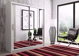 VERY CHEAP Luxurious Chicago Wardrobe With Sliding Doors Fully Mirror With Same Day Delivery