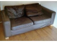 EX DISPLAY NEXT LEATHER 2+2 SOFAS DELIVERY FREE