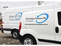 Professional man and van collection an delivery service.
