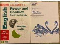 English Power and Conflict poem anthology AQA