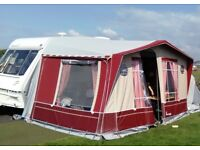 2 berth caravan including an Isabella Capri lux awning with double zipped netted sleeping pod.