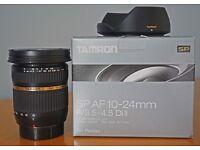 PENTAX fit Tamron SP AF DiII 10-24mm F3.5-4.5 Wide Angle Zoom lens