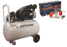 JEFFERSON 110v 50 Litre AIR Compressor 2HP + 5pc AIR KIT
