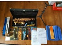 Earlham Series 2 Alto Saxophone, Stands and Music Books