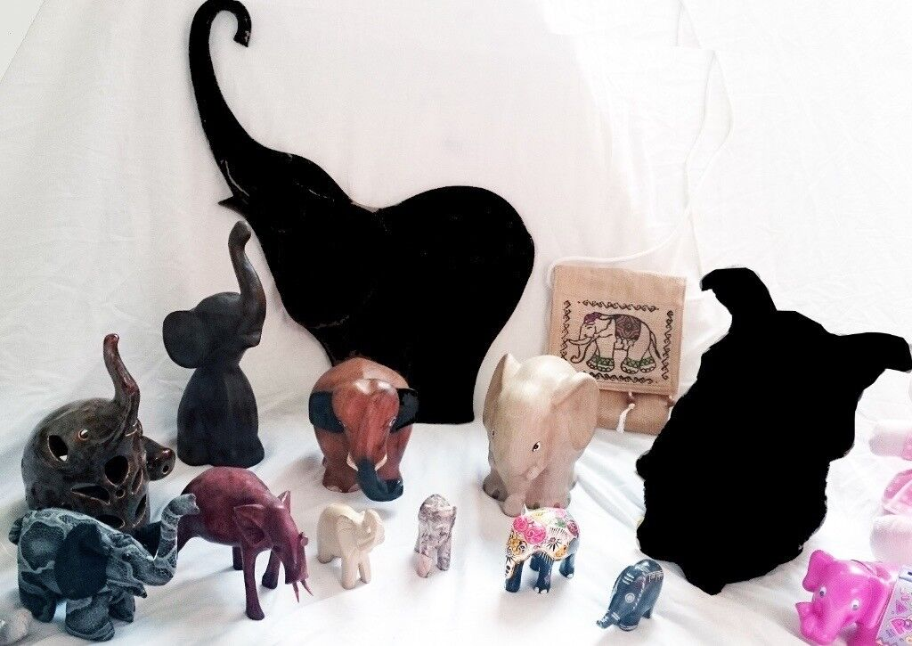 COLLECTABLE ELEPHANT ORNAMENT COLLECTION JOB LOT 10 years collection from all over the world