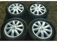 4x Renault Megane Scenic alloy wheels with tyres 205/55/16