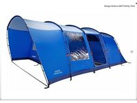 LIKE NEW Vango Anteus 600 Family 6 Man Tent/Footprint & 3 Double Air Beds - ONLY - £300 (for all)