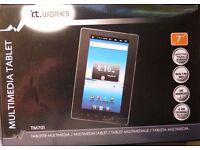 "i.t. works Multimedia Tablet $GB (Expandable), 7"" Screen- brand new and boxed"