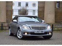 ✯ 2008 MERCEDES C220 CDI C CLASS AUTOMATIC FULL LEATHER AMG ALLOYS LOW MILEAGE 73k ✯