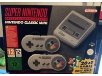 SNES Mini, brand new in box, would consider swap, 2 left over from Christmas.