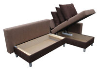Comfy and practical corner sofa bed