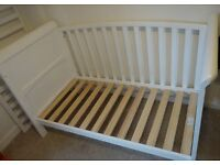 Babies R Us Tuscany 3-in-1 Cotbed in White.