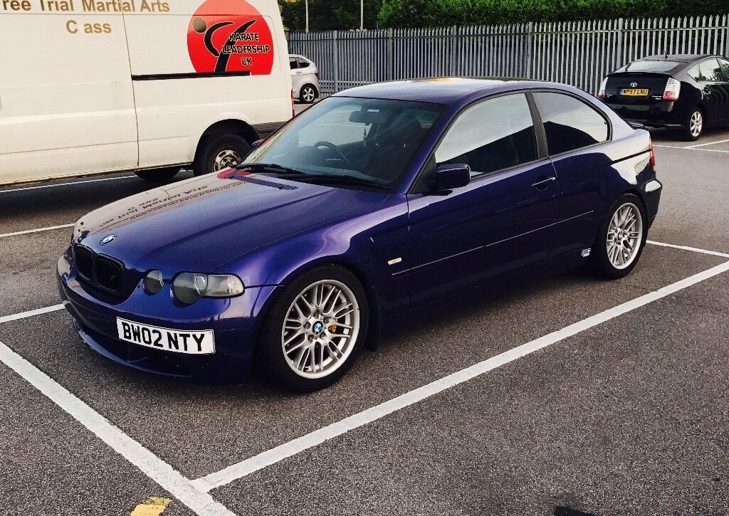 bmw e46 compact track car m54b30 3 0 conversion rare velvet blue in basildon essex gumtree. Black Bedroom Furniture Sets. Home Design Ideas