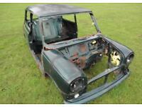 Classic rover mini Italian job shell & v5c