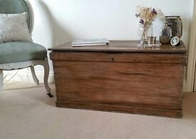 Antique large blanket box/chest/coffee table/coffer/toy box