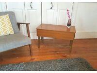 Vintage Mid Century Teak Sewing Box Coffee Table