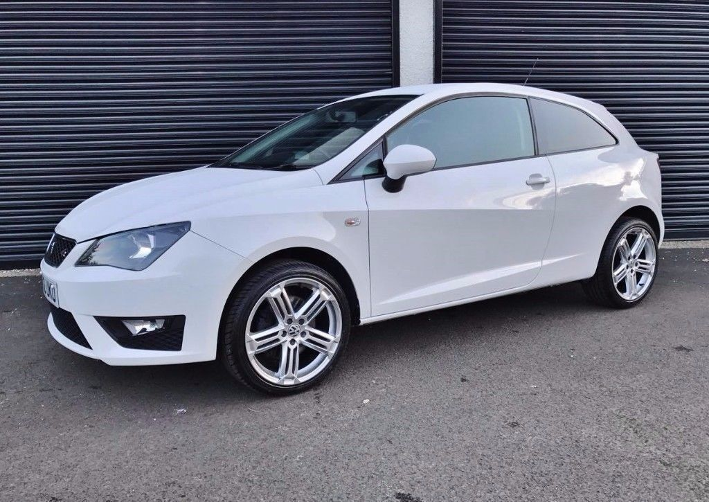 2012 seat ibiza 1 6 tdi 105 fr 3 door white finance available in cullybackey county antrim. Black Bedroom Furniture Sets. Home Design Ideas