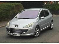 2006 56 REG PEUGEOT 307 S 1.6 PETROL 5DR LONG MOT VERY GOOD RUNNER HPI CLEAR