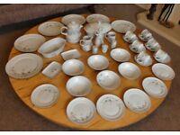 White Blossom Brazilian Porcelain Real 6 Piece Dinner / Tea Set. Dishwasher safe