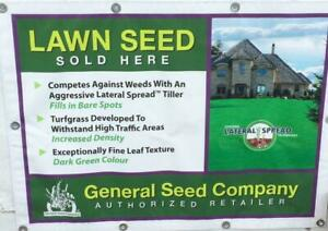 Various grass seed mixtures for problem conditions: much clay or sand, drough or parking areas, slow growing eco lawn...