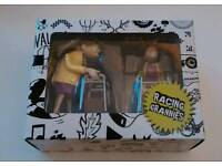Racing Grannies wind-up toys, brand new in box