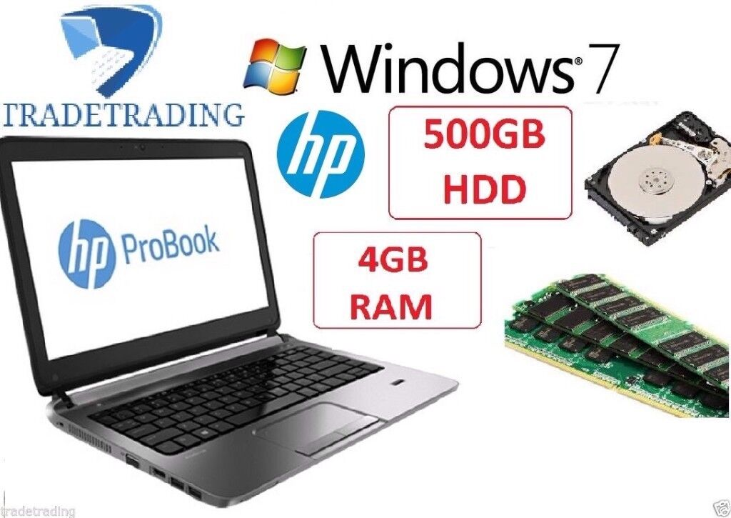 Excellent Fast HP Probook Laptop - Intel i3 4th generation, 500gb, 4gb, Webcam