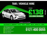 £138 per week / Toyota Prius Manchester / Taxi Rental / Hire a PCO plated car Manchester