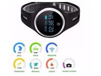 Bluetooth smart fitness watch iPhone/android - new