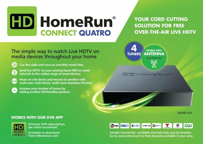 Silicondust HDHomeRun CONNECT QUATRO Refurb - Free Over the Air TV Free Shipping