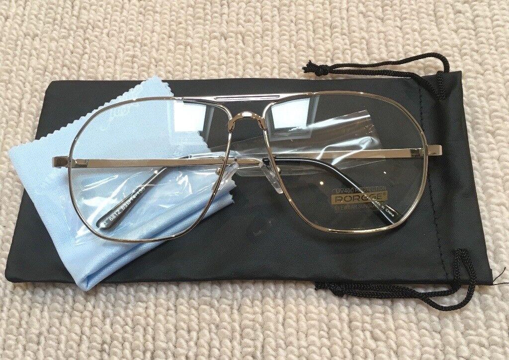 93ad473a1fce Silver Aviator Pilot Clear Lens Sunglasses (Not Kanye, Boost, Supreme,  BAPE, Off White, Presto, Y3)