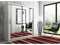 NEW EDITION - Brand New Dexter Sliding Door German Wardrobe in Black and White Colors