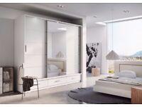 Large Wardrobe (3 sliding doors inc mirror)- Excellent Condition