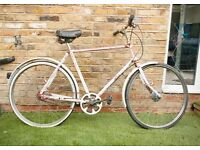 Antique classic single speed postman bike