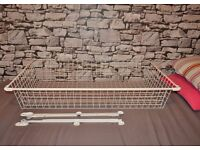 IKEA Metal basket with pull-out rail KOMPLEMENT PAX wardobe insert 100x 57cm