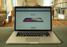 Apple Macbook Pro 15in Retina Mid 2015 16gb ram 256gb SSD 2.2ghz processor in good condition