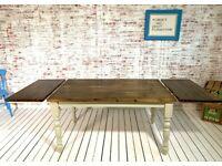 Rustic Finish Farmhouse Pine Dining Table / Extending Table - Any Sizes Any Farrow & Ball!