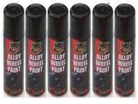 "12 x Alloy Wheel Spray Can Auto Paint ""Black Satin"" 200ml"